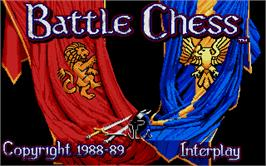 Title screen of Battle Chess on the Atari ST.