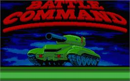 Title screen of Battle Command on the Atari ST.