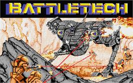 Title screen of Battletech: The Crescent Hawk's Inception on the Atari ST.