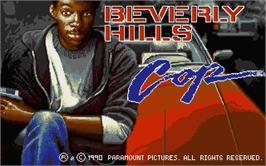 Title screen of Beverly Hills Cop on the Atari ST.