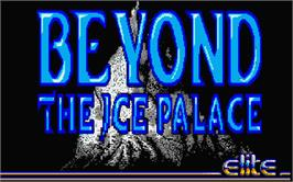 Title screen of Beyond the Ice Palace on the Atari ST.