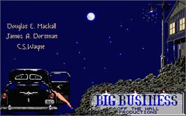 Title screen of Big Business on the Atari ST.