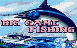 Title screen of Big Game Fishing on the Atari ST.