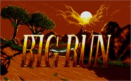 Title screen of Big Run on the Atari ST.