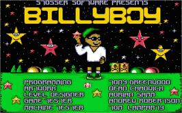 Title screen of Billy Boy on the Atari ST.