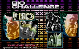 Title screen of Bio Challenge on the Atari ST.