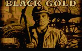 Title screen of Black Gold on the Atari ST.