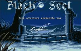 Title screen of Black Sect on the Atari ST.