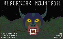Title screen of Blackscar Mountain on the Atari ST.