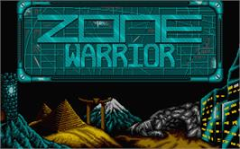 Title screen of Blade Warrior on the Atari ST.