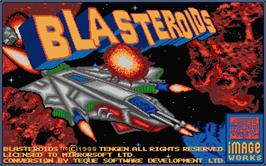 Title screen of Blasteroids on the Atari ST.