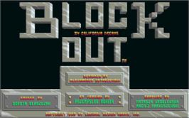 Title screen of Blockout on the Atari ST.