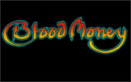 Title screen of Blood Money on the Atari ST.