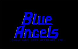 Title screen of Blue Angels: Formation Flight Simulation on the Atari ST.