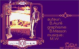Title screen of Bob Winner on the Atari ST.