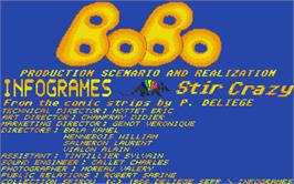 Title screen of Bomb'X on the Atari ST.