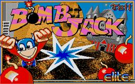Title screen of Bomb Jack on the Atari ST.
