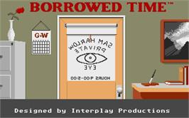 Title screen of Borrowed Time on the Atari ST.