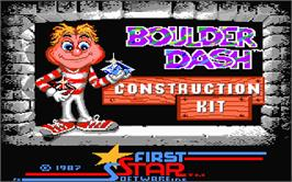 Title screen of Boulder Dash Construction Kit on the Atari ST.