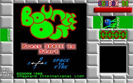 Title screen of Bounce Out on the Atari ST.