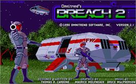 Title screen of Breach 2 on the Atari ST.