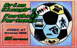 Title screen of Brian Clough's Football Fortunes on the Atari ST.