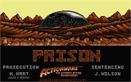 Title screen of Brimstone on the Atari ST.