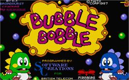 Title screen of Bubble Bobble on the Atari ST.