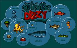 Title screen of Bubble Dizzy on the Atari ST.