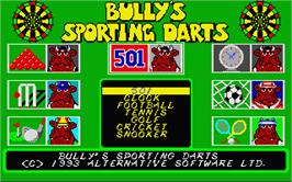 Title screen of Bully's Sporting Darts on the Atari ST.