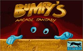 Title screen of Bumpy's Arcade Fantasy on the Atari ST.