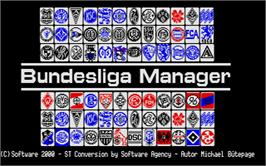 Title screen of Bundesliga Manager on the Atari ST.