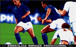 Title screen of Bundesliga Manager Professional on the Atari ST.