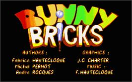 Title screen of Bunny Bricks on the Atari ST.