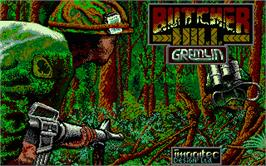 Title screen of Butcher Hill on the Atari ST.