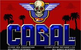 Title screen of Cabal on the Atari ST.