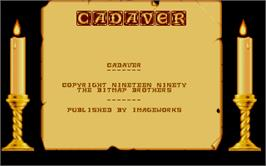 Title screen of Cadaver on the Atari ST.