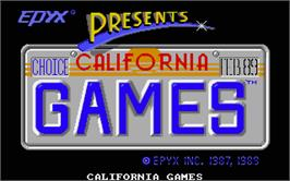 Title screen of California Games on the Atari ST.