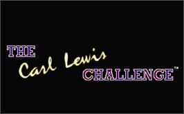 Title screen of Carl Lewis Challenge on the Atari ST.