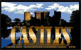 Title screen of Castles on the Atari ST.