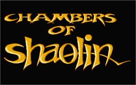 Title screen of Chambers of Shaolin on the Atari ST.