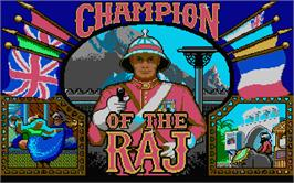Title screen of Champion of the Raj on the Atari ST.