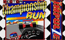 Title screen of Championship Run on the Atari ST.