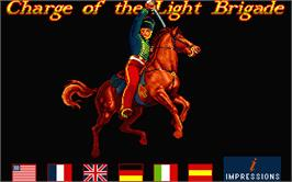Title screen of Charge of the Light Brigade on the Atari ST.
