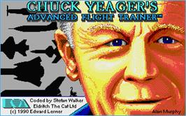 Title screen of Chuck Yeager's Advanced Flight Trainer 2.0 on the Atari ST.