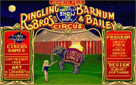 Title screen of Circus Games on the Atari ST.