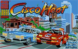 Title screen of Cisco Heat: All American Police Car Race on the Atari ST.