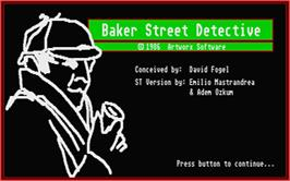 Title screen of Clue: Master Detective on the Atari ST.