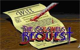 Title screen of Colonel's Bequest on the Atari ST.