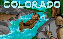 Title screen of Colorado on the Atari ST.